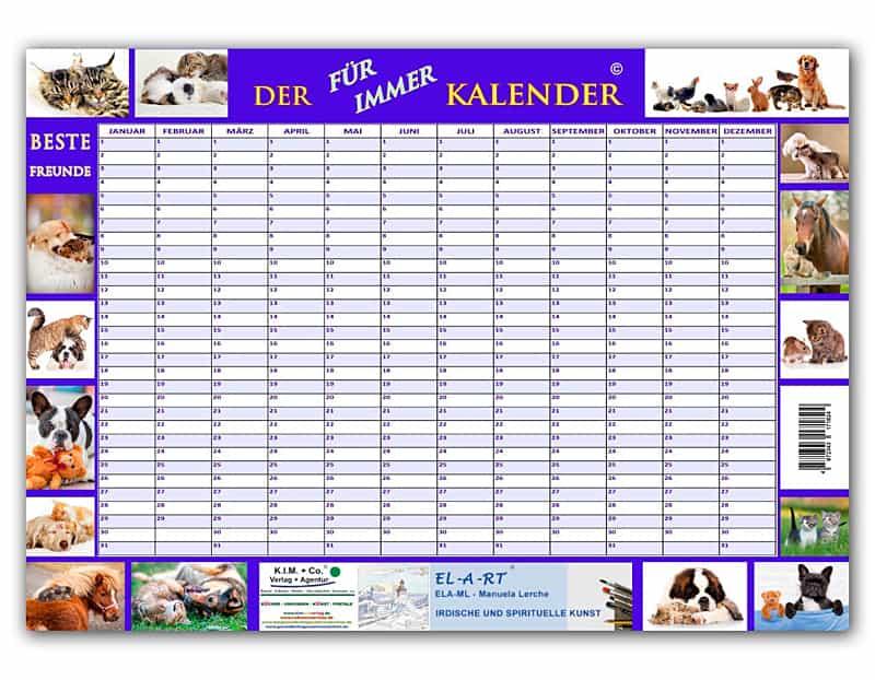 Kalender, Motiv BESTE FREUNDE, der FÜR IMMER KALENDER - Kimco Shop