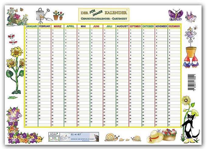 Kalender-Gartenzeit
