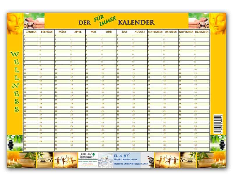 Kalender, der FÜR IMMER KALENDER, Motiv WELLNESS - Kimco Shop