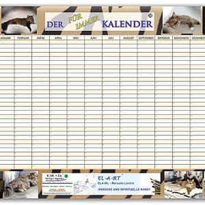 Kalender getiegerte Katzen