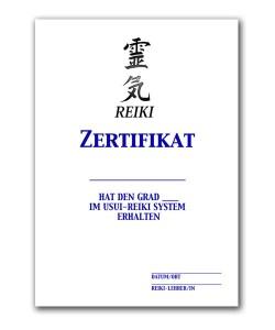 Reiki Urkunde 1