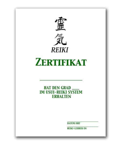 Reiki Urkunde 2