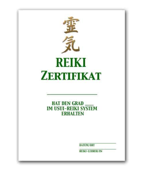 Reiki Urkunde 3