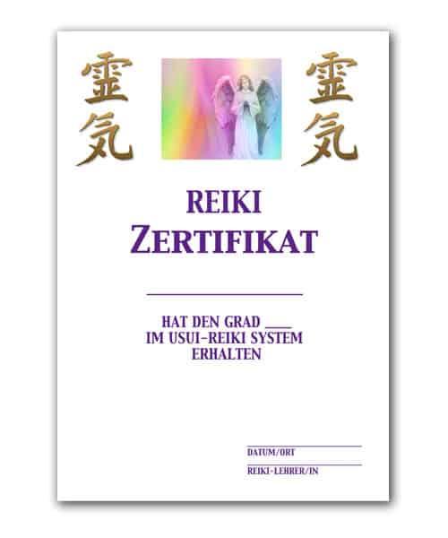 Reiki Urkunde 4