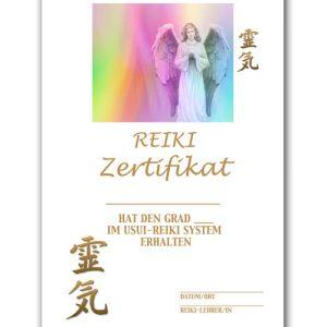 Reiki Urkunde 6