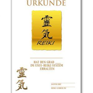 Reiki Urkunde 8